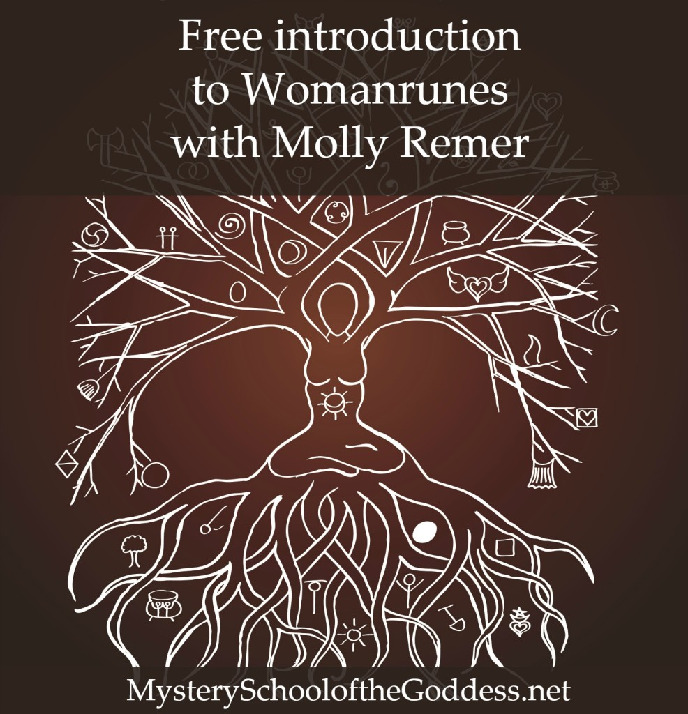 Free Introduction to Womanrunes with Molly Remer on Mystery School of the Goddess